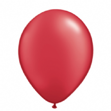 "Qualatex 11 inch Balloons - Pearl Ruby Red 11"" Balloons (Radiant 25pcs)"